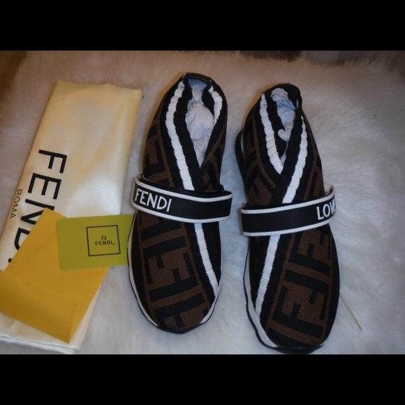 a79aa79e545 Fendi Rockoko FF Knit Sneakers